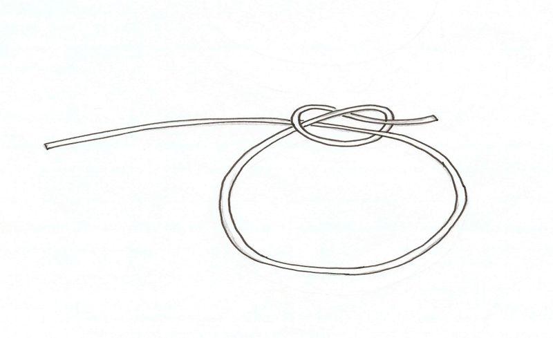 Hippie bracelet knot